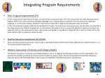 integrating program requirements18