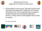 requirements for the single plan for student achievement