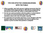 tips for effective communications with the public