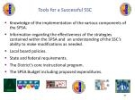 tools for a successful ssc