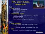 rov use in subsea interventions