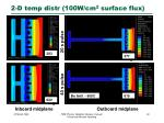 2 d temp distr 100w cm 2 surface flux