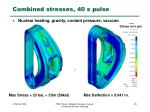 combined stresses 40 s pulse