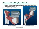 divertor handling end effector