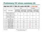 preliminary vv stress summary 2