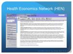 health economics network hen