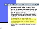 irc sec 861 income from sources within us