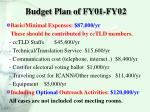 budget plan of fy01 fy02