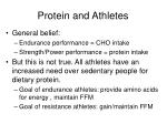 protein and athletes