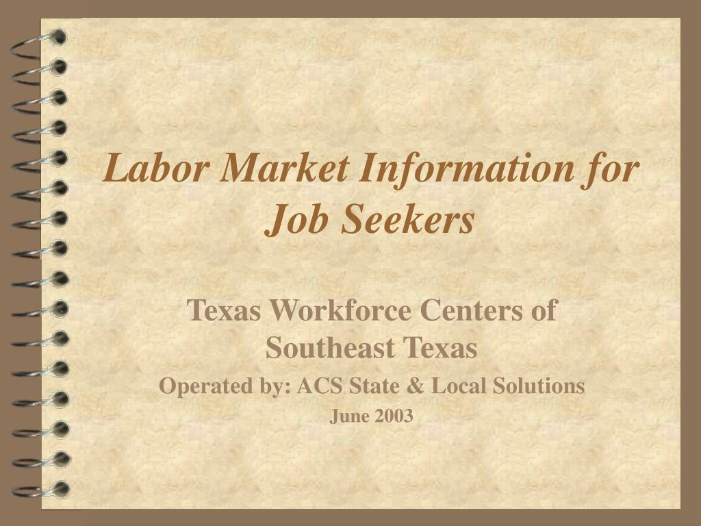 labor market information for job seekers l.