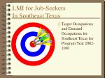 lmi for job seekers in southeast texas