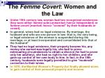 the femme covert women and the law