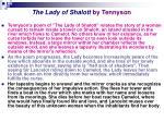 the lady of shalott by tennyson