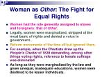 woman as other the fight for equal rights