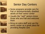 senior day centers
