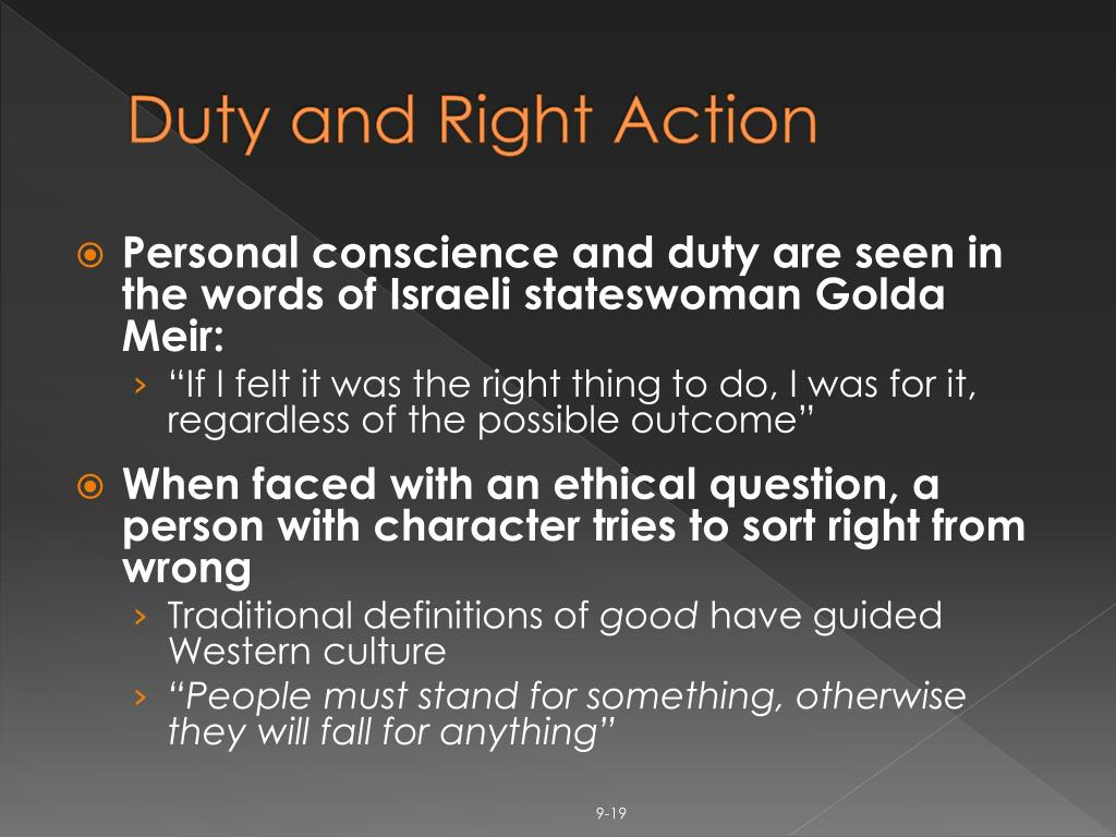 Duty and Right Action