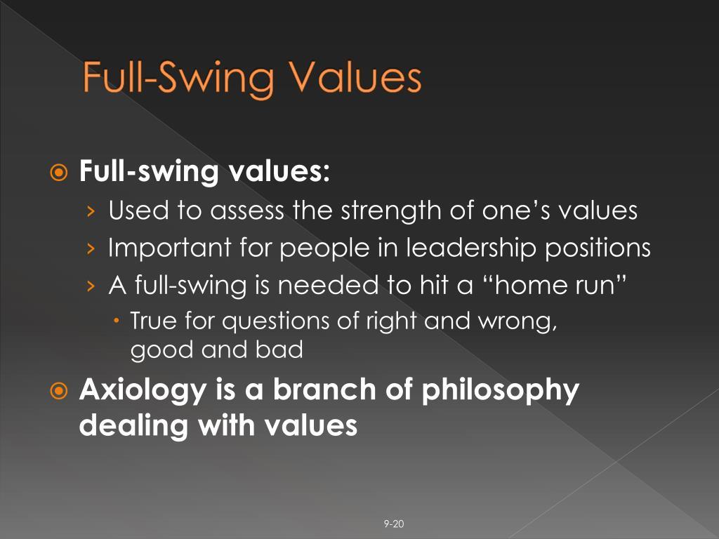 Full-Swing Values