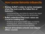 how leader behavior influences30