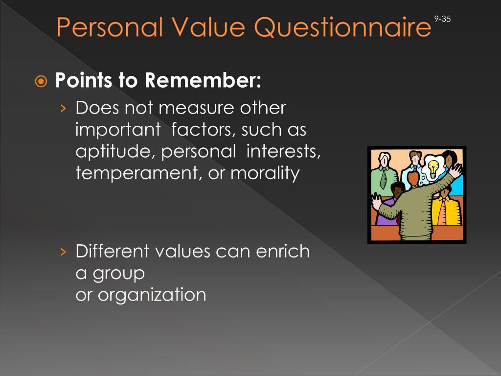 Personal Value Questionnaire