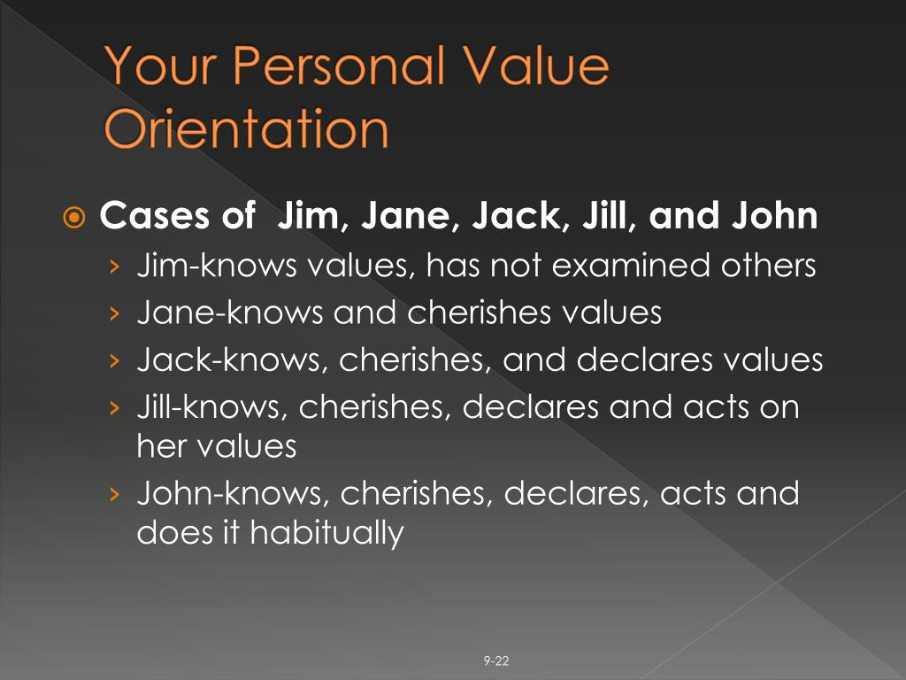 Your Personal Value Orientation