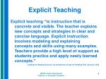explicit teaching