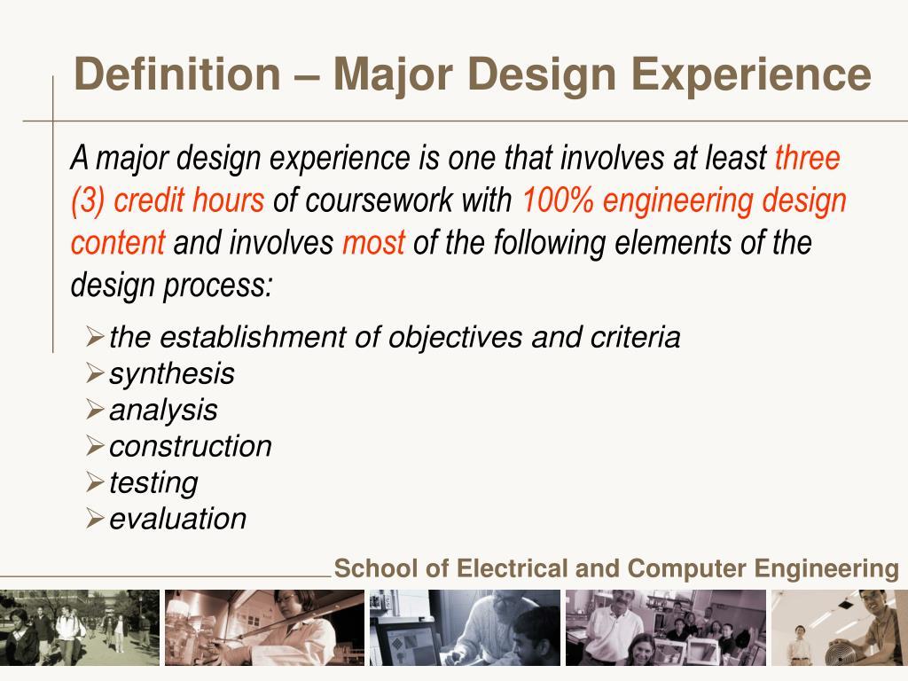 Definition – Major Design Experience