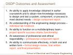 dsdp outcomes and assessment
