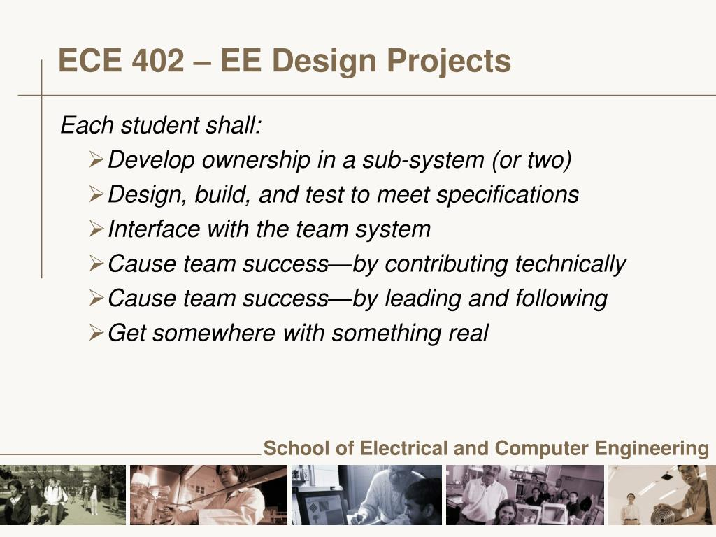 ECE 402 – EE Design Projects