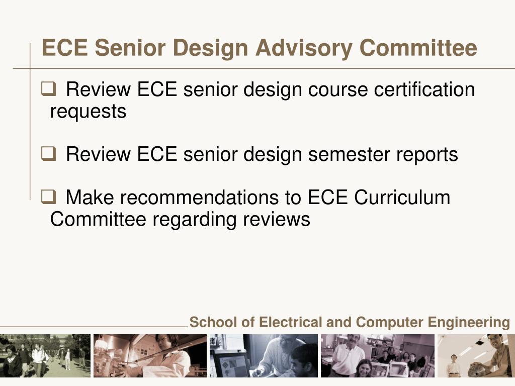 ECE Senior Design Advisory Committee