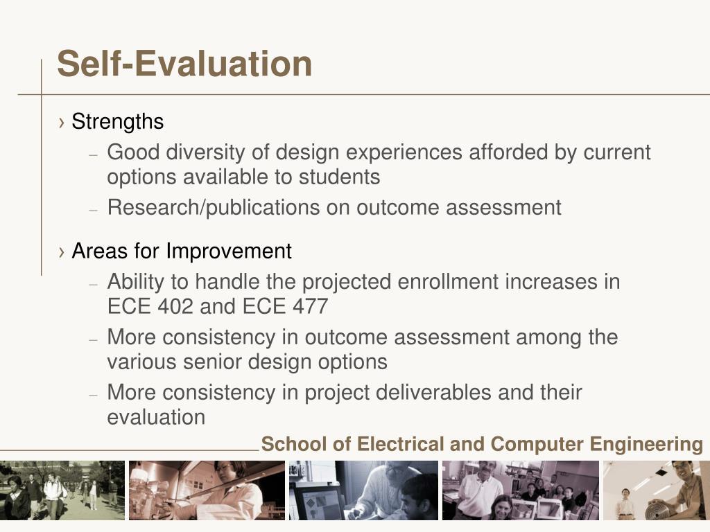 Self-Evaluation