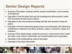 senior design reports