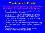 the automatic pipette