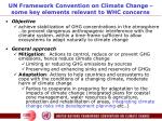 un framework convention on climate change some key elements relevant to whc concerns