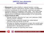 unfccc key elements mitigation