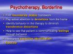 psychotherapy borderline