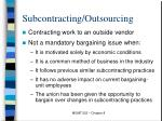 subcontracting outsourcing