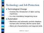 technology and job protection