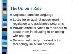 the union s role