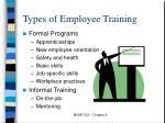 types of employee training