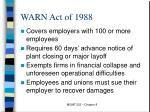 warn act of 1988