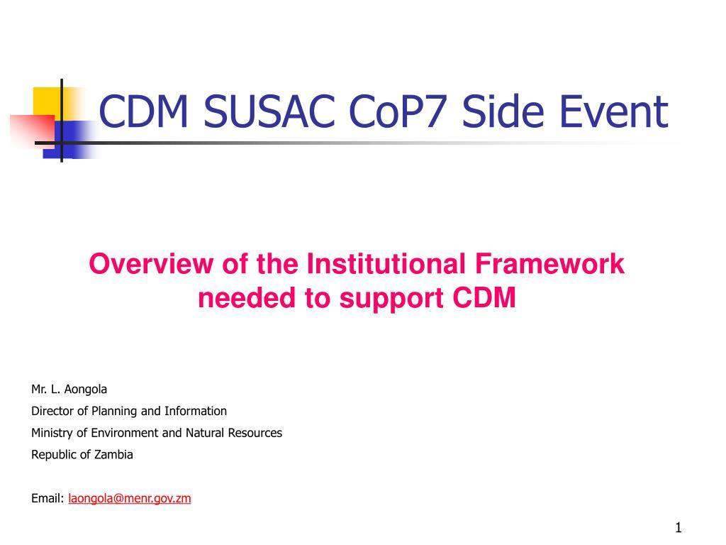 cdm susac cop7 side event l.