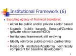 institutional framework 6