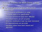 payment process for work done road fund11