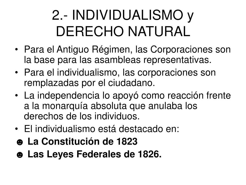 2.- INDIVIDUALISMO y