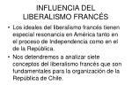 influencia del liberalismo franc s