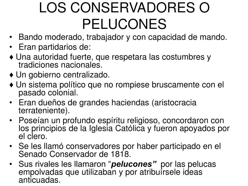 LOS CONSERVADORES O PELUCONES