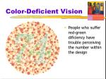 color deficient vision