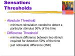 sensation thresholds