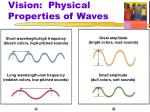 vision physical properties of waves
