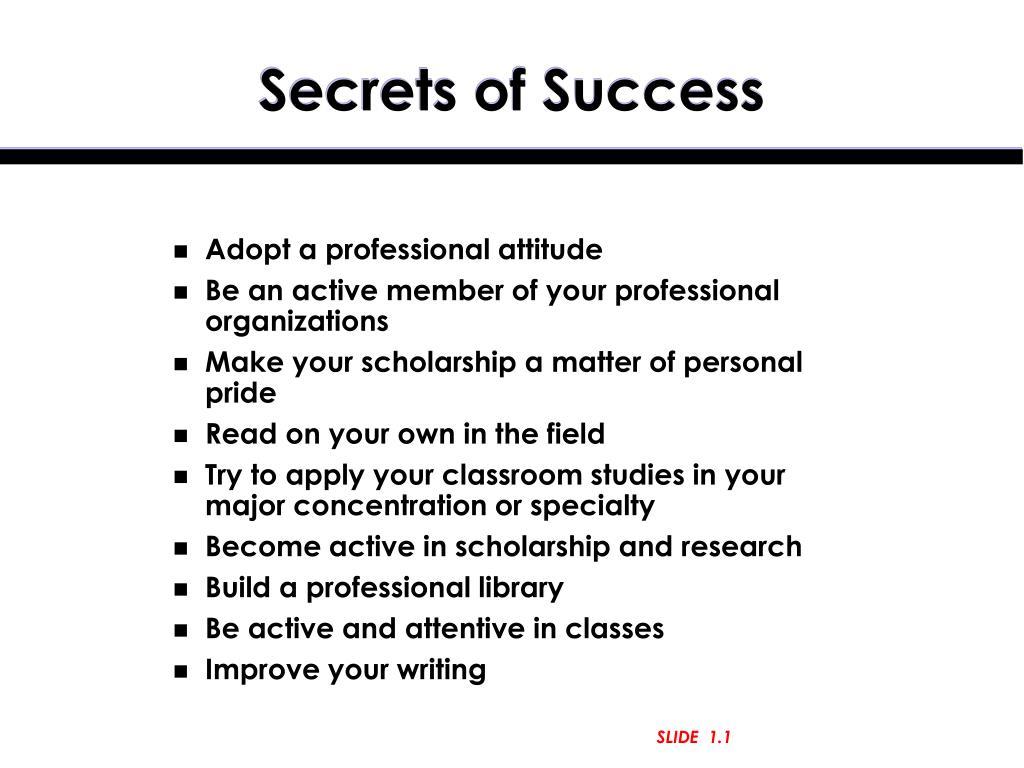 secrets of success l.